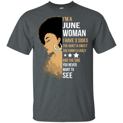 I'M June Woman Brithday T-Shirt For African Clothing Pro Black Girl BigProStore