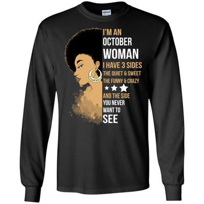 I'M October Woman Brithday T-Shirt For African Clothing Pro Black Girl BigProStore