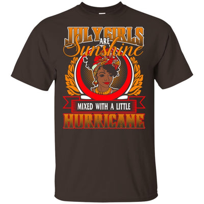 July Girls Are Sunshine Mixed With A Little Hurricane African T-Shirt BigProStore