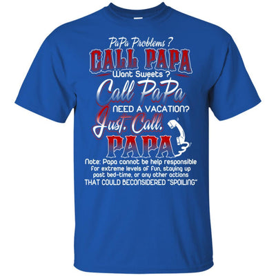 Just Call Papa T-Shirt Father's Day Cool Gift Idea For Men Grandpa Dad BigProStore