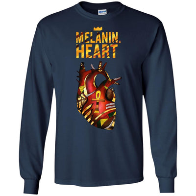 Melanin Heart T-Shirt African American Apparel For Pro Black People BigProStore