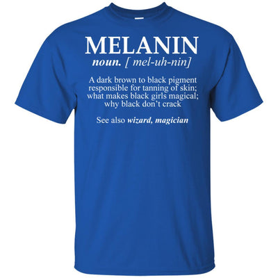 Melanin T-Shirt A Dark Brown To Black Pigment Responsible Tanning Skin BigProStore