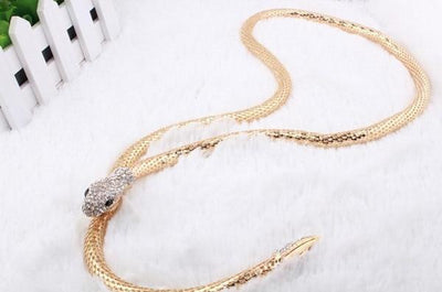 BigProStore Fashion Snake Necklace Rhinestone Austria Accessories Snake Jewelry Necklace