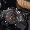 BigProStore Police Men Military Waterproof Sport Watch Blue Red Line Wristwatch Wristwatch