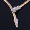 BigProStore Long Snake Belt Necklaces Gold Silver Austrian Crystal Snake Jewelry Necklace