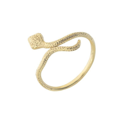 BigProStore Snake Ring Amazing Gold Snake Jewelry Women Engagement Wedding Gift Gold / Adjustable Ring