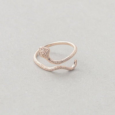 BigProStore Snake Ring Amazing Gold Snake Jewelry Women Engagement Wedding Gift Rose Gold / Adjustable Ring