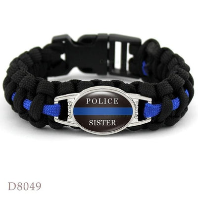 BigProStore Survival Paracord Thin Blue Line Bracelet Police Law Enforcement Gift Option#2-D8049