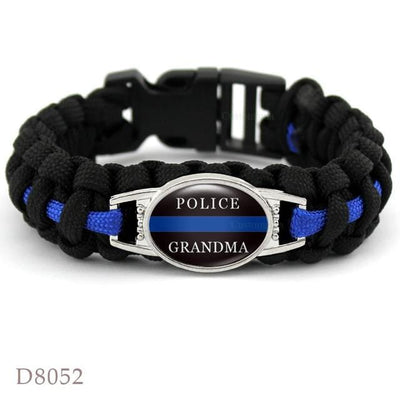 BigProStore Survival Paracord Thin Blue Line Bracelet Police Law Enforcement Gift Option#5-D8052