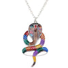 BigProStore Jungle Snake Cobra Necklace Chain Pendant Men Women Snake Jewelry Gift Multicolor Necklace