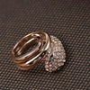 BigProStore Fashion Snake Ring Trendy Snake Jewelry Women Engagement Wedding Gift Ring