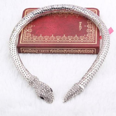 BigProStore Trendy Rhinestone Crystal Snake Necklace Women Silver Gold Snake Jewelry Silver Necklace