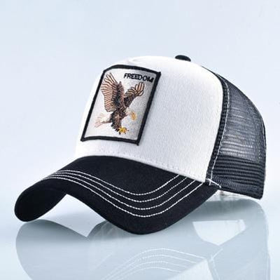 BigProStore Fashion Embroidery Baseball Cap Men Women Snapback Mesh Trucker Hats Eagle White Hat
