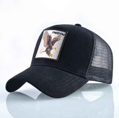 BigProStore Fashion Embroidery Baseball Cap Men Women Snapback Mesh Trucker Hats Eagle Black Hat
