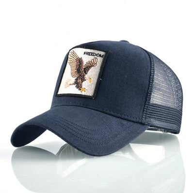 BigProStore Fashion Embroidery Baseball Cap Men Women Snapback Mesh Trucker Hats Eagle Blue Hat