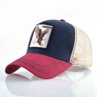 BigProStore Fashion Embroidery Baseball Cap Men Women Snapback Mesh Trucker Hats Eagle Red Opt1 Hat