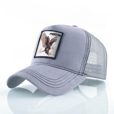 BigProStore Fashion Embroidery Baseball Cap Men Women Snapback Mesh Trucker Hats Eagle Gray Hat