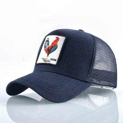 BigProStore Fashion Embroidery Baseball Cap Men Women Snapback Mesh Trucker Hats Cock Blue Hat