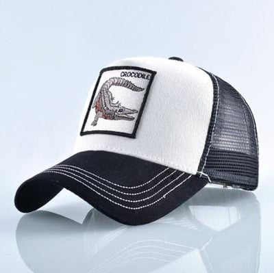 BigProStore Fashion Embroidery Baseball Cap Men Women Snapback Mesh Trucker Hats Crocodile White Hat
