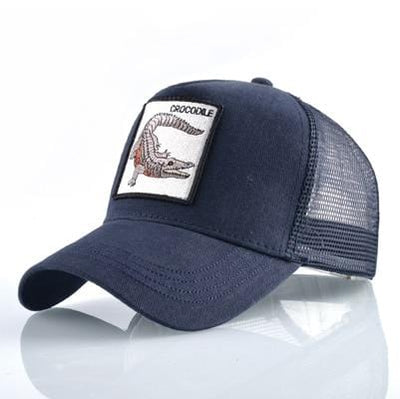 BigProStore Fashion Embroidery Baseball Cap Men Women Snapback Mesh Trucker Hats Crocodile Blue Hat
