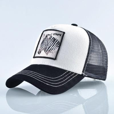 BigProStore Fashion Embroidery Baseball Cap Men Women Snapback Mesh Trucker Hats Zebra White Hat