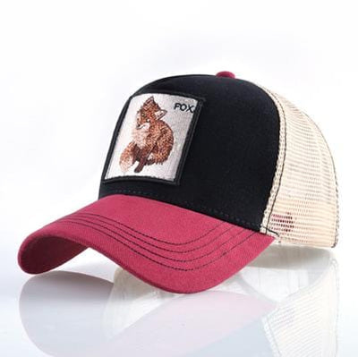 BigProStore Fashion Embroidery Baseball Cap Men Women Snapback Mesh Trucker Hats Fox Red Opt2 Hat