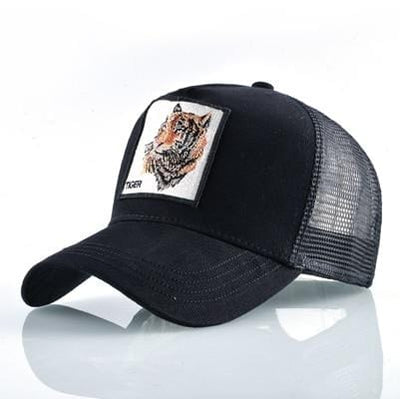 BigProStore Fashion Embroidery Baseball Cap Men Women Snapback Mesh Trucker Hats Tiger Black Hat