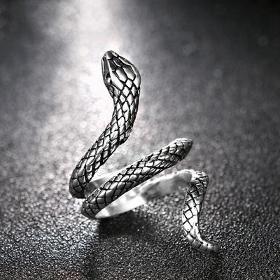 BigProStore Fashion Snake Ring Men Women Punk Style Vintage Snake Jewelry Ring