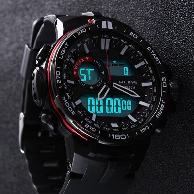 BigProStore Waterproof Sports Military Men's Watch for Police Firefighter Veterans Wristwatch
