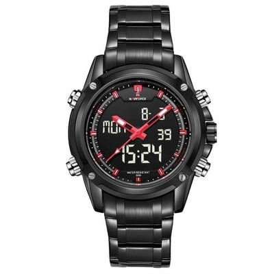 BigProStore Thin Red Line Firefighter Watch Waterproof Military Firemen Wristwatch Wristwatch