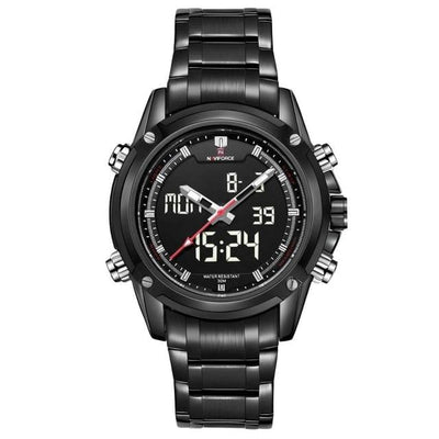 BigProStore Thin Red Line Firefighter Watch Waterproof Military Firemen Wristwatch Black White Wristwatch