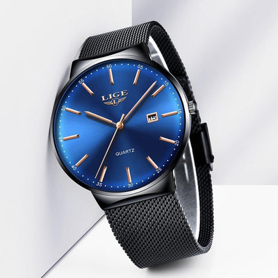BigProStore Fashion Men Watch Waterproof Ultra Thin Blue Police Wristwatch Gift Wristwatch