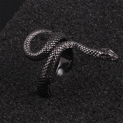 BigProStore Snake Ring Fashion Antique Silver Adjustable Ring Women Snake Jewelry Ring