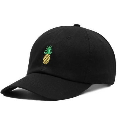 BigProStore Beach Fashion Mermaid Trucker Hat Pineapple Embroidery Baseball Cap Black Hat