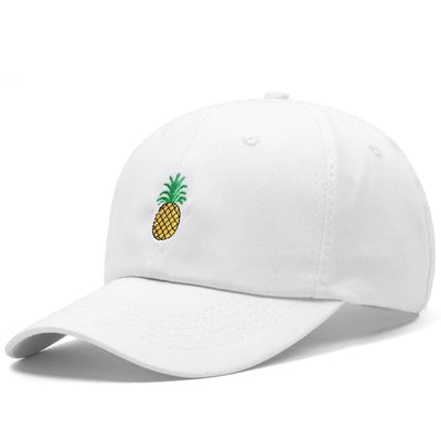 BigProStore Beach Fashion Mermaid Trucker Hat Pineapple Embroidery Baseball Cap White Hat