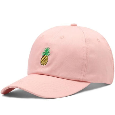 BigProStore Beach Fashion Mermaid Trucker Hat Pineapple Embroidery Baseball Cap Pink Hat