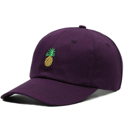 BigProStore Beach Fashion Mermaid Trucker Hat Pineapple Embroidery Baseball Cap Purple Hat