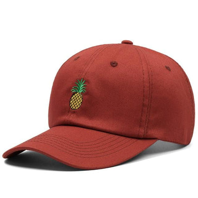 BigProStore Beach Fashion Mermaid Trucker Hat Pineapple Embroidery Baseball Cap Brick Red Hat