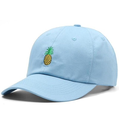 BigProStore Beach Fashion Mermaid Trucker Hat Pineapple Embroidery Baseball Cap Sky Blue Hat