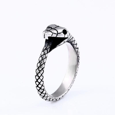 BigProStore Snake Ring Trendy Men Women Stainless Steel Snake Jewelry Gift Idea 6 Ring