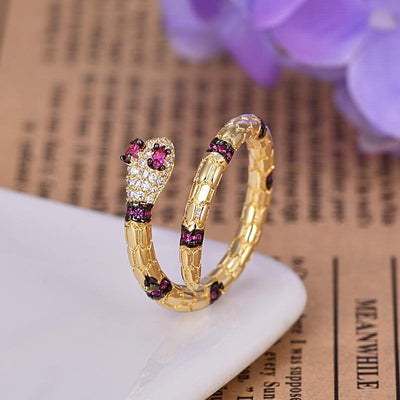 BigProStore Snake Ring Unique Creative Gold Exaggerated Snake Jewelry Women Gift Ring