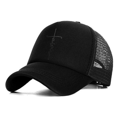 BigProStore Faith Letter Printed Baseball Cap Fashion Snapback Mesh Trucker Hat Hat