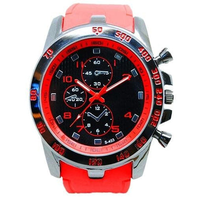 BigProStore Red Firefighters Sports Men Watch Fashion Casual Silicone Firemen Gear Wristwatch