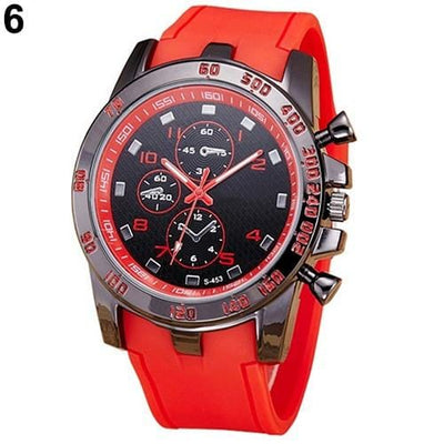 BigProStore Red Firefighters Sports Men Watch Fashion Casual Silicone Firemen Gear Red Wristwatch