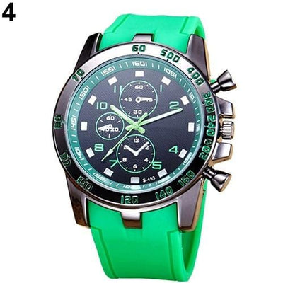 BigProStore Red Firefighters Sports Men Watch Fashion Casual Silicone Firemen Gear Green Wristwatch