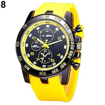 BigProStore Red Firefighters Sports Men Watch Fashion Casual Silicone Firemen Gear Yellow Wristwatch