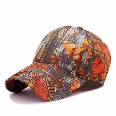 BigProStore Orange Hunting Trucker Hat Maple Leaf Camo Baseball Cap Hunter Gift Camo Orange Hat