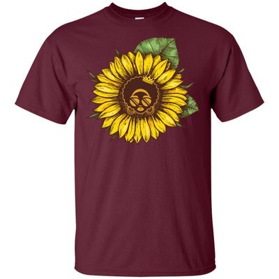 Sunflower African American T-Shirt For Melanin Women Afro Girl Magic