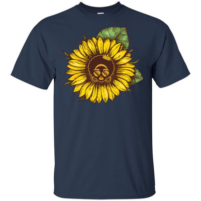 Sunflower African American T-Shirt For Melanin Women Afro Girl Magic BigProStore