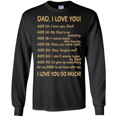 Unique Father's Day Birthday Gift Idea For Him Dad I Love You T-Shirt BigProStore